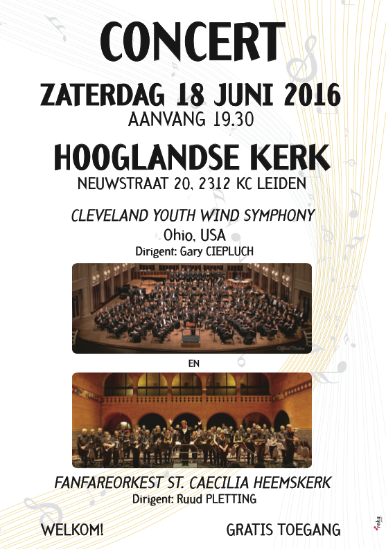 Dubbelconcert met Cleveland youth wind ensemble